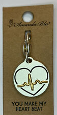 Amanda Blu Heartfelt Emotions Silver 2-Tone Make My Heart Beat Heartbeat # 73298