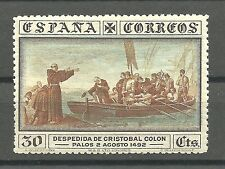 ESPAÑA año 1930 DESCUBRIMIENTO DE AMERICA ED 540..MUY CENTRADO DE LUJO.