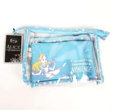 Disney Loungefly Alice In Wonderland Makeup Bag Set Cosmetic Purse Pouch