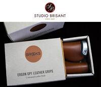 Brooks Lenkergriffe Ergon GP1 Leather Grips Griffe Leder *black + brown + honey*