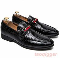 Mens Slip On Casual Loafers Low heel Pointed toe Driving Club Dress formal Shoes