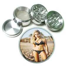 """French Pin Up Girls D2 Aluminum Herb Grinder 2.5"""" 63mm 4 Piece"""