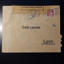SUISSE SCHWEIZ LETTRE CENSURE MILITAIRE N°118 CENSOR COVER ZURICH -> LYON