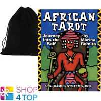 AFRICAN TAROT DECK MINI CARDS DIVINATION US GAMES SYSTEMS USA WITH VELVET BAG