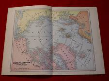"""~ NORTH POLAR REGION ~ ARCTIC OCEAN / 16MAP ( 11 X 14"""" )"""