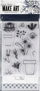 Wendy Vecchi Make Art Stamp, Die & Stencil Set-Flower Pot