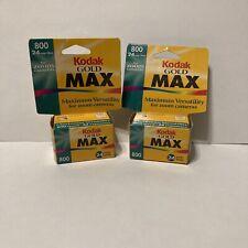 2x Kodak Gold Max 35 mm ISO 800 24 exposure Film, Expired 04/2000, New SEALED