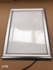 LED Light A4 Snap Frames Poster Case Silver Display Frame