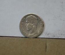 monnaie france 25 centimes 1/4 quart de franc 1828 W charles X argent rare