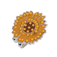 Alloy Sunflower Golf Hat Clip with Magnetic Ball Marker Golf Accessories