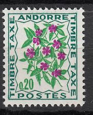 TIMBRE TAXE  ANDORRE FRANCE NEUF  N° 49  *  FLEURS DES CHAMPS