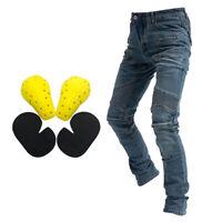 Jeans Da Uomo In Sella Per Moto Pantaloni Da Corsa Fly Resistance Blu S