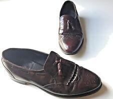 Men's Hanover Leather Brown Oxford Loafers. Size: 13 D/B. Tassel Details.