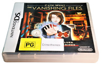 Cate West The Vanishing Files DS 2DS 3DS Game *Complete*