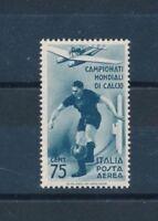 1934 ITALIA REGNO POSTA AEREA CAMPIONATI MONDIALI CALCIO CENT 75 MNH - RE11/5