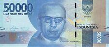 Indonesia 50.000 Rupiah 2016 Unc Pn 159a