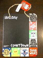 Disney Star Wars Chalk Board Holiday Christmas Count Down Chalk Board NWT