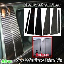 Pillar Panel Trim Covers 6pc Real Carbon Fiber For 04-10 E60 M5 535i 530i 550i