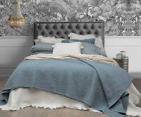 Stonewashed Jardin Wash Blue 100% Cotton Coverlet Bedspread Bedcover Set - New