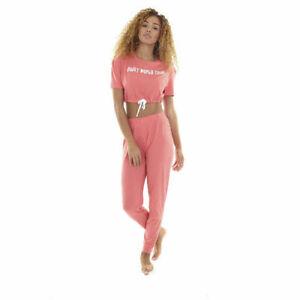 Ladies Duvet World Tour Pyjamas Nightwear Lounge Set Sizes XS- XL Free P&P