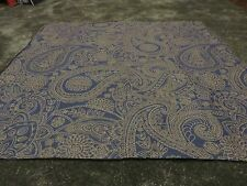 Paisley blue gold golden beige crafts remnant fabric material piece 95x95cm