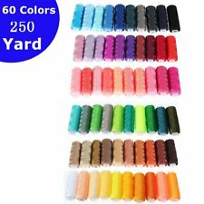 AU 250 Yard Spools 60 Colors Polyester Sewing Thread Reel Hand Machine Cord Set