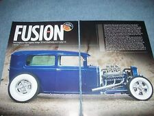 "1930 Ford Model A Tudor Sedan Traditional Hot Rod Article ""Fusion"""