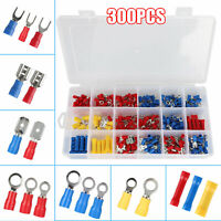 300PCS Insulated Electrical Wire Splice Terminal Spade/Crimp/Ring Connector Kit