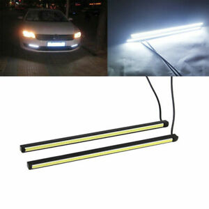 2x Super Bright COB Car White LED 12V 15W DRL Fog Driving Light Lamp For Toyota