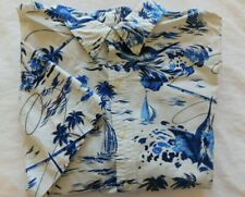 NWT Ralph Lauren WHITE w/Blue Nautical print Short Sleeve Oxford Shirt Sz 3XLT