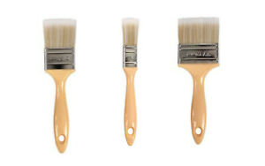 """Gelcoat set of 3 Synthetic bristle, Low Loss, Plastic Handle Brush  1"""" & 2"""" & 3"""""""