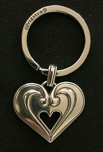 Brighton Heart Key Fob Key Chain Silver plated