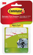 3M Command Small Poster Strips Damage Free Hanging 48 Pack