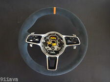 PORSCHE CAYENNE 2015 - 16  S TURBO  GT S ALCANTARA LAVA ORANGE  STEERING WHEEL