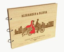 Darling Souvenir Personalized Engraved Laser Cut Wedding Guest Book-o4g