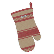 Design Imports FRENCH RED STRIPE Quilted Cotton Oven Mitt