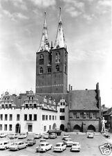 AK, Stendal, Marktplatz und Marienkirche, 1977