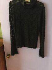 Vintage Ladies Forenza Black Lace Top. Medium. Great Condition.