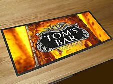 Personalised Black Beer Label Bar runner Cocktail Partys Pubs & Clubs