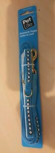 Pet Life Puppy Collar & lead with Diamantes - Blue