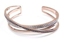 Hero Cuff, Gray Crystal, Rose Gold Plated Large 2017 Swarovski Jewelry #5370986
