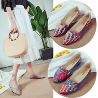 Fashion Women Soft Sole Pumps Loafers Flats Slip On Casual Boat Single Shoes