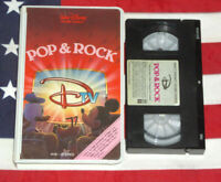 WALT DISNEY DTV Pop & Rock (VHS, 1984) Animated Music Videos Clamshell RARE Tape