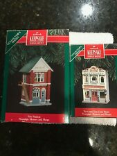 "Hallmark Keepsake ornament(lot of 2) ""Fire station"" & ""Five and ten cent store"""