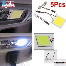5X White 48 SMD COB LED T10 4W 12V Car Interior Panel Light Dome Lamp Bulb # NEW