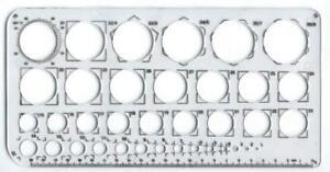 Circle Stencil Template Circular Drawing Ruler Measuring Exam 1mm - 36mm x 1
