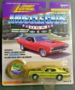1996 Johnny Lightning Muscle Cars USA 1/64 1970 Buick GSK Green HW7