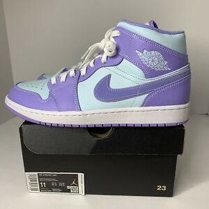 Nike Air Jordan 1 Mid Purple Pulse Arctic Punch 554724-500 Men's Size 11