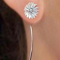 Elegant Flower Stud Earrings Women 925 Silver Jewelry Free Shipping A Pair/set