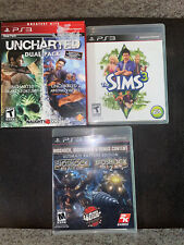 PS3 Games Bundle. Lot of 4 Games Total. Uncharted Dual Pack, Bioshock, Sims 3